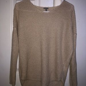 Charlotte Russe small tan sweater